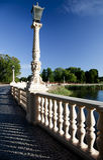Voie au château de Schwerin images stock