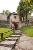 Voie au château médiéval image libre de droits