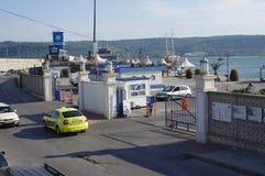 Voie d'accès au port de Varna Photographie stock libre de droits