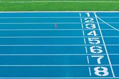 Voie d'athlétisme images stock