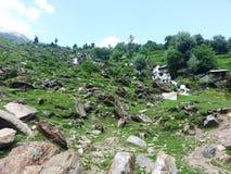 Voie d'eau au Cachemire Image libre de droits