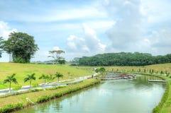 Voie d'eau de Punggol, Singapour Photographie stock libre de droits