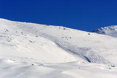 Voie dans la neige photos stock