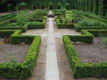 Voie dans un jardin de monastère Photo libre de droits