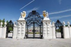 Voie de base du palais supérieur de belvédère, Vienne photos stock