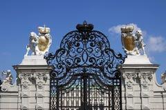 Voie de base Vienne de palais de belvédère images libres de droits