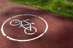 Voie de bicyclette Image stock