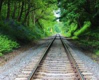 Voie de chemin de fer. Photos libres de droits