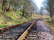 Voie de chemin de fer. Photo stock