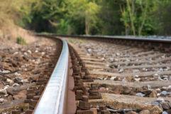 Voie de chemin de fer brouillée Images libres de droits