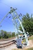 Voie de chemin de fer dans la campagne Image libre de droits