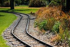 Voie de chemin de fer de méandre Image stock