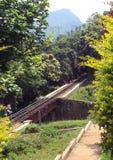 Voie de chemin de fer de mesure étroite de colline Image libre de droits