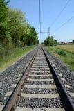 Voie de chemin de fer et concept de voyage Photo stock