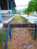 Voie de chemin de fer de cul-de-sac Images stock