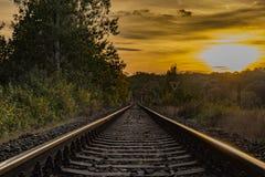 Voie de chemin de fer près de station de Bakov NAD Jizerou Image libre de droits