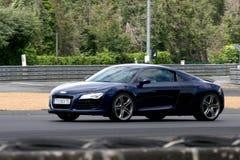 Voie de circuit de voiture de course de Le Mans images libres de droits