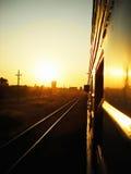 Voie de coucher du soleil Photos stock