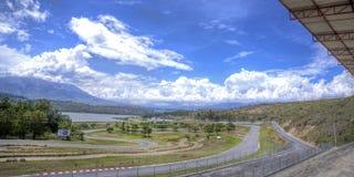 Voie de course automatique vide Image libre de droits
