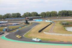 Voie de course dans Oschersleben, Allemagne - tasse de Porsche Photos libres de droits