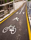 Voie de cycle et de piéton Photos stock