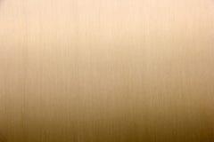 Voie de garage en laiton d'or balayée en métal Photographie stock libre de droits