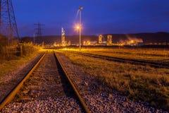 Voie de garage ferroviaire Images libres de droits