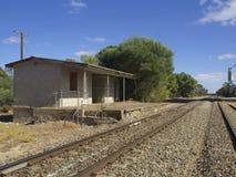 Voie de garage ferroviaire rurale Images stock