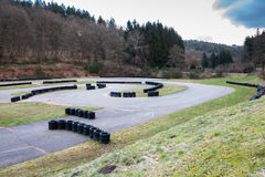Voie de karting photos libres de droits