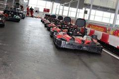 Voie de Karting commençant la grille photos libres de droits