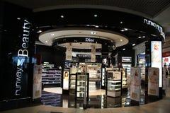 Voie de passage de comptoir de vente sous douane dans l'aéroport de Domodedovo Image libre de droits