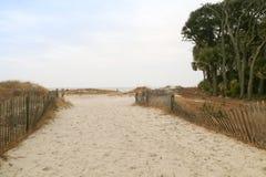 Voie de plage Photographie stock libre de droits