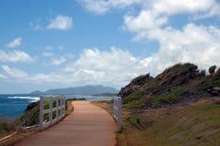 Voie de promenade de plage Photo stock