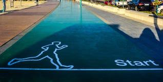 Voie de sprint de début de Dubaï Jumeirah photographie stock