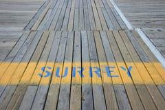 Voie de Surrey sur la promenade Image stock