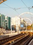 Voie de tramway Images libres de droits