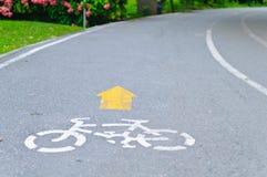 Voie de vélo Photographie stock