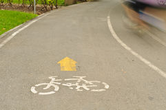 Voie de vélo photos libres de droits