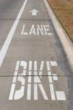 Voie de vélo photo libre de droits