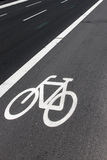 Voie de vélo sur la route Image libre de droits