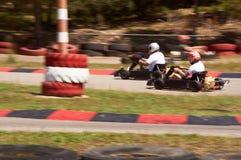 Voie de vitesse de course de Karting images stock