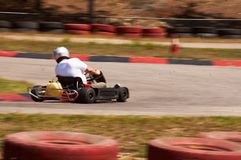 Voie de vitesse de course de Karting photos stock