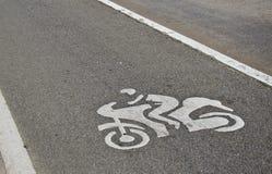 Voie de voie de vélo Images libres de droits