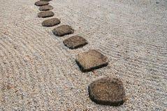 Voie en pierre japonaise photo stock