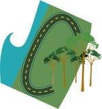 Voie et forêt Photos libres de droits