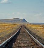 Voie ferrée sur la prairie Photographie stock libre de droits