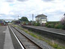 Voie ferroviaire au passé Images stock