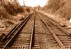Voie ferroviaire de cru Photographie stock libre de droits