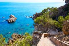 Voie Lloret de Mar de Cami de Ronda de Costa Brava photo libre de droits