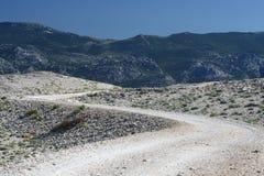 Voie montagneuse Image libre de droits